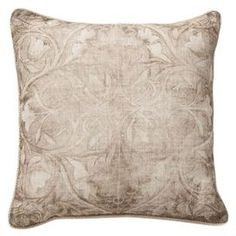 Bring country-chic style to your home with this charming design, artfully crafted for lasting appeal.  Product: PillowConstruction Material: Cotton and linen and feather down fillColor: BrownFeatures:  Insert includedEmbroidered front Dimensions: 18 x 18