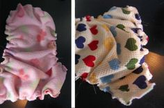 Quick Cloth Diapers - Tutorial for making cloth diapers out of waffle weave receiving blankets