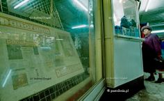 pastsilesia: Gabloty w pasażu pod Rondem (Katowice, 1999 r.)