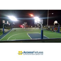 Led Basketball Court 4 Pole Light Outdoor Basketball Court Lighting Available At Access Fixtures From 8 663 Outdoor Basketball Court Court Led Flood Lights