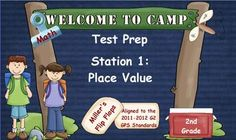 First in a Series of Year-End Math Test Prep ActivInspire Flipcharts with Camping Theme 35 questions to review math skills for 2nd grade on year-end testing Can be used with Activotes or ActivExpressions Added bonuses: Essential Questions & Georgia GPS Standards Skills included: Base Ten Models through Thousands Expanded Form Word Form Value of the Underlined Digit Standard Form Words & Numbers Greater Than, Less Than, Equal Hundred Grids