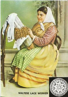 Malta Postcard - Maltese Lace Worker   AB431