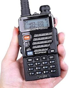 The Baofeng UV-5R series of radios - inexpensive, pocket sized HAM radio that also receives NOAA weather alerts and operates on FRS/GPRS radio frequencies  popular with most preppers. Can also function as a scanner in receive mode only.