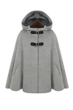 It's a cape and a pea coat all in one. This soft cashmere and polyester coat will keep you toasty all winter long.