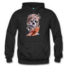 Bird, butterfly and sugar Skull - Men's Premium Hoodie #hoodie #sugarskull #skull #skeleton #bone #hallowen #nightmare #monster #dracula #zombie #hunter #evil #devil #daemon #magic #witch #voodoo #kingdom #animal #animalkingdom #ghost #vampire #hauntedmansion #bird #lion #beast #jungle #flowers #roses #floral #pattern