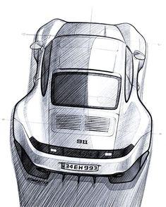 993 sketch #ipadpro #procreate #porsche #911 #widebody #dreamcar #timeless #design #993 #cardesign #illustration #sketch #applepencil #drawing #emrEHusmen #istanbul