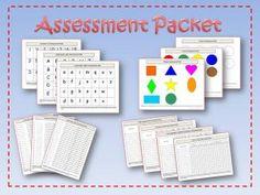 pre-k kindergarten assessment packet, pre-k progress report and report card (downloadable for fee)