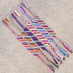 Basic diagonal friendship bracelets!