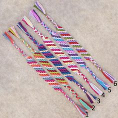 Basic diagonal friendship bracelets!