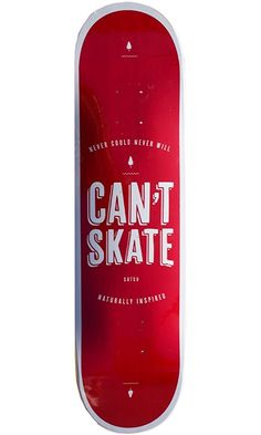 """Bamboo Skateboards Can't Skate Graphic Skateboard Deck, 8.25"""" x 32"""" Best Price"""