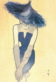 Ensemble by christian dior, femina, IV, 1949  Illustrator: Rene Gruau