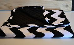 Black and White Chevron Minky Baby Blanket by TheAmberRoseEmporium, $25.00