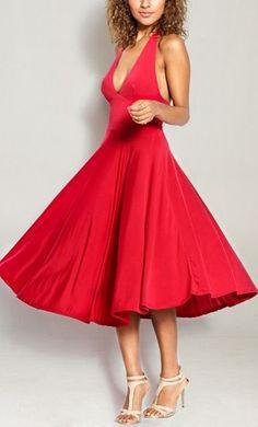 Marilyn Dress in Red