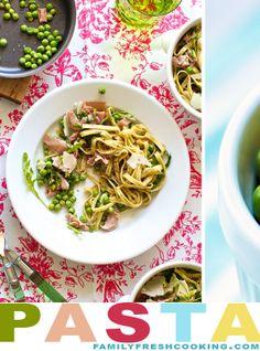 Spring Pasta with Peas & Prosciutto