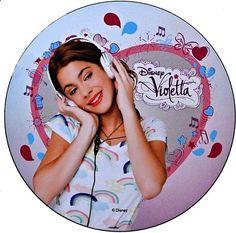 disco cialda per decorazioni torta festa a tema violetta 01 - Party e Balloon - Addobbi Feste per Bambini - Matrimoni - Lanterne Speciali