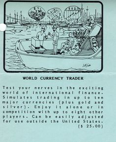 Flyer ad for World Currency Trader program (1982). Telephone, The Outsiders, Connection, Software, The Unit, Ads, Phone