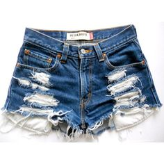 Vintage High Waisted Shorts, High Waisted Distressed Jeans, Ripped Denim, Waisted Denim, Levis Jeans, Denim Skirt, Slim Fit Work Trousers, Short Jeans Feminina, Summer Shorts Outfits