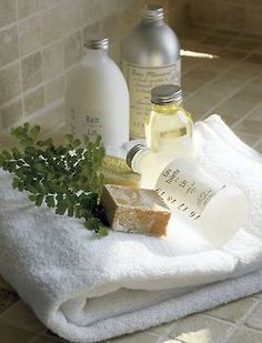 Bed & Breakfast idea: Fresh linens, soaps, shampoos, etc in each bathroom