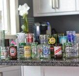 Copos de garrafas