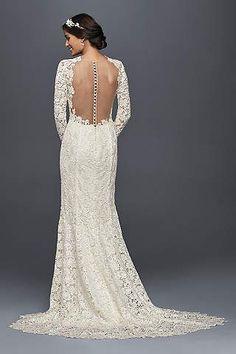 View Long Sleeves Long Wedding Dress at David's Bridal