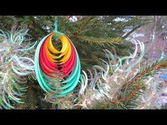 НОВОГОДНЯЯ ИГРУШКА канзаши на елку своими руками. New year toy kanzashi - YouTube