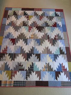 Finished or Not Friday at Busy Hands Quilts - Join the Linky Party!  Sewing Out of My Comfort Zone: Scrappy Mountain Majesties Quilted and Bound