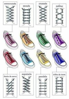 Different ways to lace up your shoes Ways To Lace Shoes, How To Tie Shoes, Your Shoes, How To Lace Converse, Lace Converse Shoes, Black Converse, Lace Sneakers, Converse Sneakers, Diy Fashion