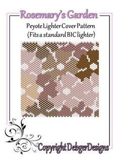 Rosemarys Garden -Beaded Flat Peyote Lighter Cover Pattern