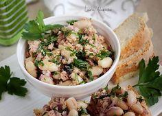 Salata de fasole boabe cu ton   Retete culinare Laura Adamache Potato Salad, Rice, Potatoes, Tasty, Ethnic Recipes, Lifestyle, Food, Sports, Salads
