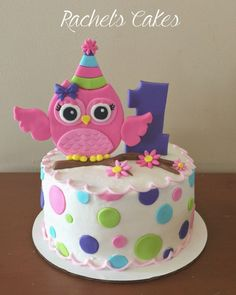 Amazing Picture of Owl Birthday Cake - Cake decorating - kuchen kindergeburtstag Birthday Cakes Girls Kids, Owl Cake Birthday, Cake Kids, Owl Birthday Parties, Birthday Ideas, Owl Smash Cakes, Owl Cakes, Ladybug Cakes, Birthday Cake Pinterest