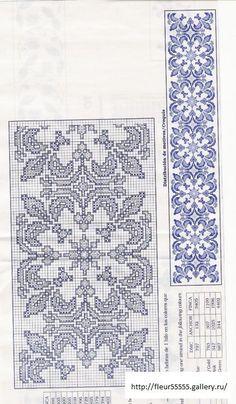ru / Фото # 125 - 2 - Cross Stitch Bookmarks, Cross Stitch Borders, Crochet Borders, Cross Stitch Flowers, Cross Stitch Charts, Cross Stitch Designs, Cross Stitching, Cross Stitch Patterns, Crochet Bedspread Pattern