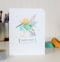 """Flora & Fauna is a high quality photopolymer stamp set containing 9 individual stamps. Measurementshummingbird 1 - large: 3 x 1 - small: 2 x 1 2 - large: 2 x 2 2 - small: 2 x 1 - large: 2 x 1 - medium: 2 x 1 Love Stamps, Clear Stamps, Simple Card Designs, Beautiful Handmade Cards, Bird Cards, Flora And Fauna, Card Tags, Greeting Cards Handmade, Homemade Cards"