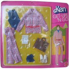 Ken Get-Ups 'N Go Outfit 1975 Plaid Suit with Newspaper NRFP