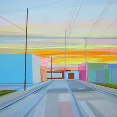 Wynnwood Miami by Grant Haffner 1800 Abstract Landscape, Landscape Paintings, Abstract Art, Landscapes, Oil Paintings, Artist Grants, Sky Art, New Artists, Installation Art