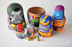 Villains nesting dolls by Andy Stattmiller