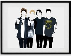 5 Seconds of Summer / 5SOS / Minimalist Poster Art by ThePerkyPug