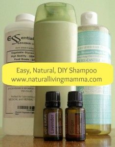 DIY Shampoo; Liquid Castile soap, Glycerine, Almond oil & Essential oils !! I've already got 2 of the ingredients I need :)