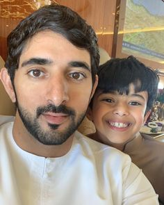 Sheikh Hamdan bin Mohammed bin Rashid Al Maktoum with his friend