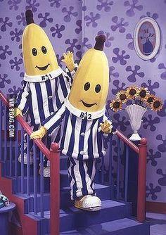 Bananas in pajamas -- my kids watched Childhood Tv Shows, 90s Childhood, Childhood Memories, Old Kids Shows, 2000s Kids Shows, Banana In Pyjamas, Pajamas, Duo Costumes, Growing Up British