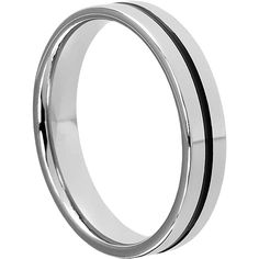 Demeter has a beautiful black inlay and is used as a tungsten wedding band. Enjoy the Demeter tungsten ring as an everyday wear ring.