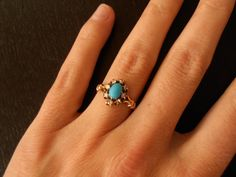 SPRING SALE Antique Victorian Turquoise and Rose by RiordanStudio, $975.00