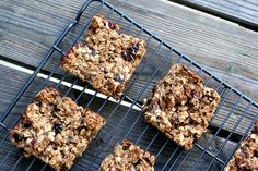 granola bars: I used whole wheat flour, honey, raisins