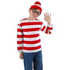 Where's Waldo? Costume - Kids, Kids Unisex, Size: