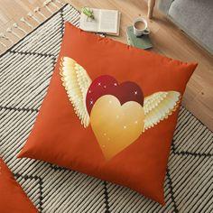 Throw Pillows, Bed, Home, Two Hearts, Clean Design, Floor Cushions, Vibrant Hair Colors, Bath Mats, Flooring