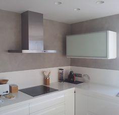 Propuesta revestimiento para paredes de cocina con for Microcemento paredes cocina