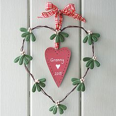 Personalised Heart Mistletoe Wreath - wreaths