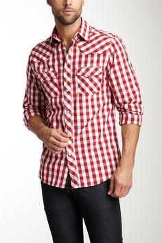 Great Men's Gingham Shirt