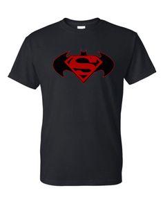 1b13f4919312a Superman-Batman Symbol T-Shirt by Block451 on Etsy Superman