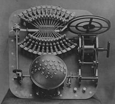 This is a Takygraf - extreme fastspeed writing machine. 1872