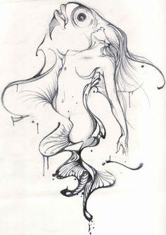 Mermaid by daawww on deviantart art & illustration by other